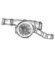 sketch antique cannon vector image vector image
