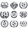 Soccer Football Typography Badge Design Element vector image vector image