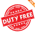 stamp sticker duty free collection vector image
