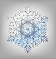 stock realistic snowflake vector image
