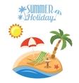 summer vacation on beach vector image