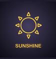 sun neon light icon vector image