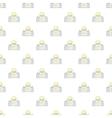 Taj Mahal pattern cartoon style vector image vector image