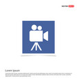 video camera icon - blue photo frame vector image