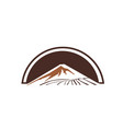 vintage mountain emblems graphic for element vector image vector image