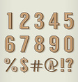 Vintage Style Numbers Set vector image vector image