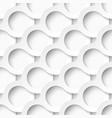 White circles with drop shadows vector image