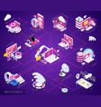 wireless technology isometric flowchart vector image vector image