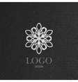 with a graceful snowflake on cardboard texture vector image vector image
