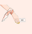 woman business card enterpreneur personal brand vector image