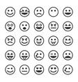 Set of black smileys vector image