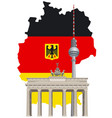 german landmarks and map vector image