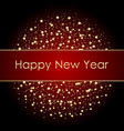2018 new year black background with gold vector image