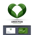 Ecology The leaves are heart-shaped Logo icon vector image