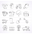 Agriculture and farming icons vector image vector image