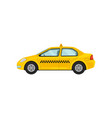 airport taxi service classic yellow cab public vector image