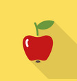 apple flat icon with shadow vector image vector image