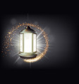 banner template for ramadan with antic lantern vector image vector image