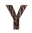 bark letter Y vector image vector image