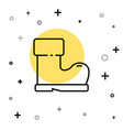 black line waterprorubber boot icon isolated on vector image vector image