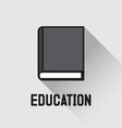 Book icon education concept vector image