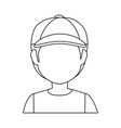 boy faceless avatar vector image vector image