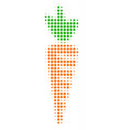 carrot halftone icon vector image