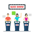 cartoon people quiz game show concept vector image vector image