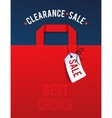Clearance Sale Poster with percent discount vector image vector image