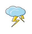cloud with thunders icon vector image