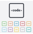 Code sign icon Programming language symbol vector image vector image