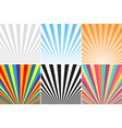 collection of abstract colorful striped vector image vector image