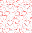 Color grunge romance seamless pattern vector image vector image