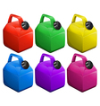 Colorful gas containers vector image vector image