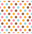colorful minimal dot circle seamless pattern vector image