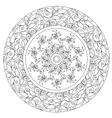 Coloring Beautiful Floral Mandala vector image