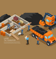 construction site building background vector image vector image