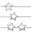 continuous line star with handdrawn doodle style vector image vector image