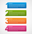 Creative infographic number options template vector image vector image