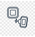 cufflinks concept linear icon isolated on vector image