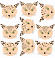 cute cats seamless design pattern it is located vector image vector image