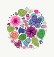 design made of natural elements vector image