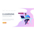 digital learning concept vector image vector image