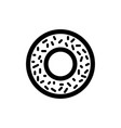 donut icon food vector image vector image