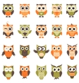 Funny owls and owlets set vector image vector image