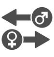gender exchange flat icon vector image vector image