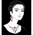 Girl with jewelery vector image vector image