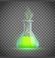 glass vial with a love potion alchemy vector image