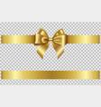 gold bow and ribbon vector image vector image