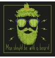 Hand Drawn Mustache Beard and Hair Style Hipster vector image